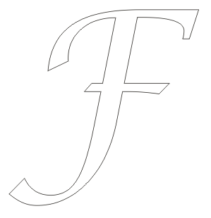 Alphabet coloring pages big letter F