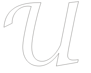 u coloring page  Greek alphabet coloringpages: