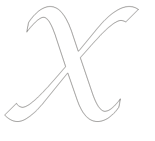 Alphabet Coloring Pages Big Letter X