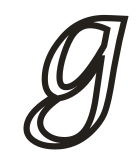 Alphabet coloring pages small letter g
