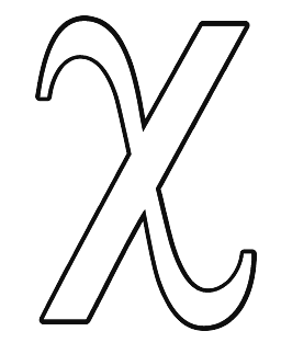 Greek coloring pages letter chi