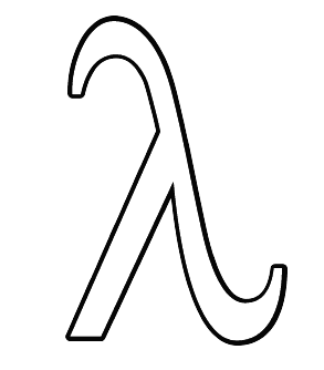 Greek coloring pages letter lambda