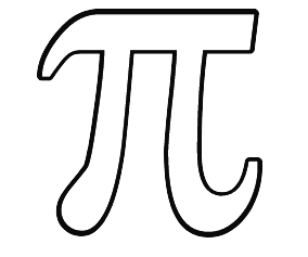 Greek coloring pages letter pi