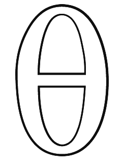 Greek coloring pages letter theta
