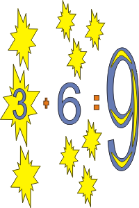math coloring page 3+6